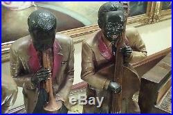 VINTAGE JAZZ BAND BLACK AMERICAN MUSICIANS FIGURINES AMEZING DETAILS REAR FIND