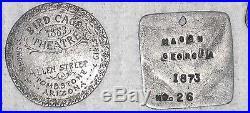 Vintage Slave Tag Oakwood Kemp Plantation Kkk Member Medal Set Collection 5 Lot