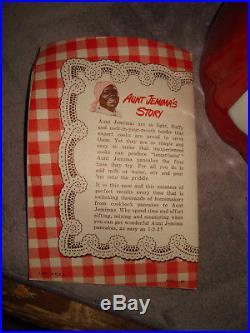 VTG F&F MOLD & DIE WORKS PLASTIC AUNT JEMIMA COOKIE JAR with RECIPE BOOK CLEAN