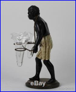 VTG Petites Choses Blackamoor Black Americana Man Spelter Figurine Statue NR AFC