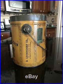 Very Nice Antique Vintage Pre-Biggerhair N Hair Tobacco Tin Can Black Americana