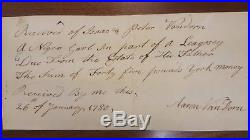 Very Rare 1785 New Jersey Early Slave Document