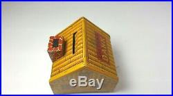 Very Rare 1930s J Chein Co. Tin Litho Black Americana Log Cabin Coin Bank