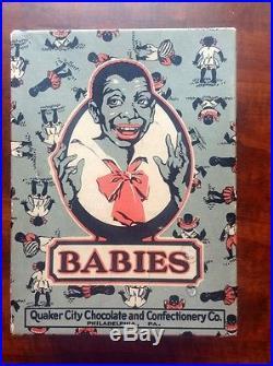 Very Rare Babies Chocolate Candy Box. Black Americana Circa Early 1900's