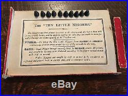 Very Rare Black Americana Ten Little Niers Dexterity Game Box Toy