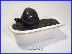Very Rare Boy in Bathtub How Ink Is Made Vintage Black Americana England Crest