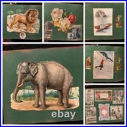 Victorian Scrapbook Diecuts Santa Baseball Flowers Black Americana Animals