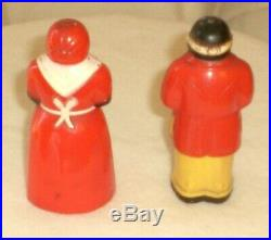 Vintage 11Pc. 1940's F&F Aunt Jemima Spice Set WithSyrup & 2 Salt Peppers