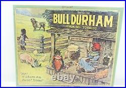 Vintage 1930's Bull Durham Smoking Tobacco Advertising Sign Black Americana RARE