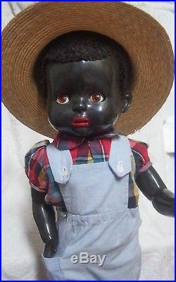 Vintage 1950s 21 inch Hard Plastic Black Pedigree Walker Doll