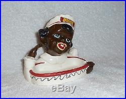 Vintage 1950s Black Americana Mammy Maid Soap Dish Coin Tray Souvenir
