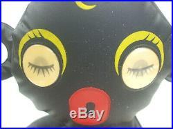 Vintage 1950s Black Americana Sambo Girl Inflatable Doll with Lenticular WinkyEyes