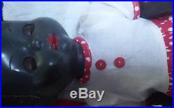 Vintage 1950s England Pedigree 20 inch Black Walker Doll with Flirty Eyes