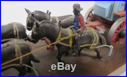Vintage 1972 Miniature Black Americana Model Horse Drawn Wagon Train Toy 40 yqz