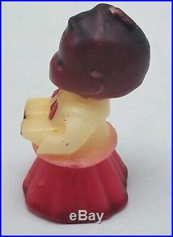 Vintage 3 Gurley Black Americana Christmas Choir Boy Candle w Label Never Used