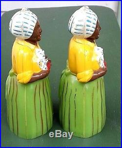 Vintage 5 Plastic F&f Green Luzianne Salt And Pepper Shakers