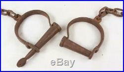 Vintage A. G. Brooks Slave Trading House 1858 Cast Iron Leg Cuffs