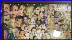 Vintage African American Fine Art Collage Chicago IL Black History Mlk Activists