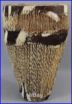 Vintage African Tribal, Zebra Drum, Excellent Condition, Great Table Stand