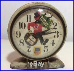 Vintage Alarm Clock Union pacific Railroad Black Americana- Rare
