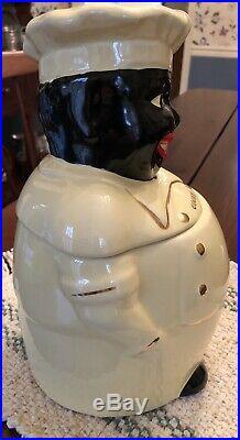Vintage Americana Black Chef Cookie Jar by Pearl including salt & pepper shakers