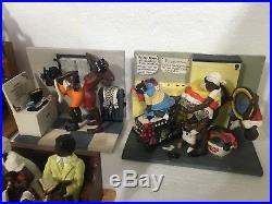 Vintage Annie Lee SASS N' CLASS Black Americana Figures-15 Scenes-Hard To Find