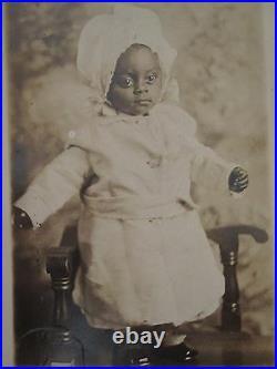 Vintage Antique African American Black History Artistic Angel Baby Rppc Photo