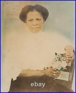 Vintage Antique African American Black Woman Large Vernacular Photography Photo