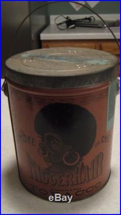Vintage Antique N Hair Bigger Hair Tobacco Tin Super Clean L@@K