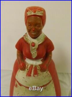 Vintage Aunt Jemima Black Americana Plastic Cookie Jar