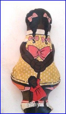 Vintage Aunt Jemima Wade Diana Oilcloth 3 Dolls Pancake Advertising
