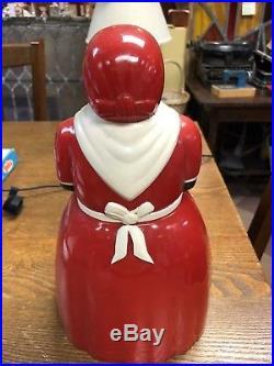 Vintage BLACK AMERICANA AUNT JEMIMA 11.5 PLASTIC COOKIE JAR