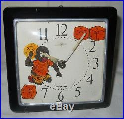 Vintage Baby Black Boy Throwing Dice Alarm Clock Americana / Memorabilia Sambo
