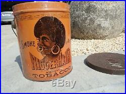 Vintage Big Hair Tobacco N-Hair Tin 1887 Tin Black Americana Pre Bigger hair