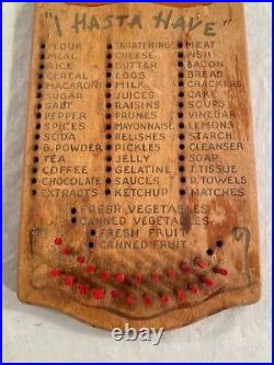 Vintage Black African Americana Wooden Board Shopping List I Hasta Have