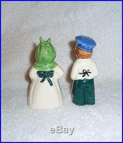 Vintage Black Americana 1950s JAPAN Mammy Jemima Salt Pepper Shakers Rare