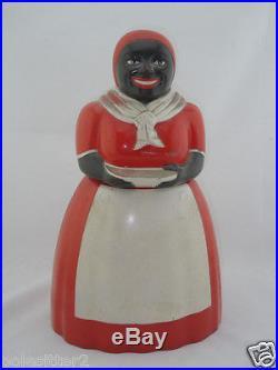 Vintage Black Americana AUNT JEMIMA Cookie Jar by F&F Plastic Mold & Die Works
