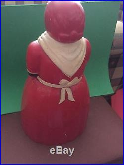 Vintage Black Americana Aunt Jemima Cookie Jar By F&F Plastic Mold and Dyeworks