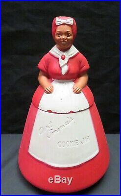 Vintage Black Americana Aunt Jemima Plastic Cookie Jar