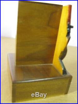 Vintage Black Americana Bus Boy Cigarette Dispenser