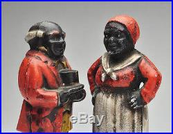 Vintage Black Americana Collectibles Aunt Jemima & Uncle Moses Cast Iron Banks