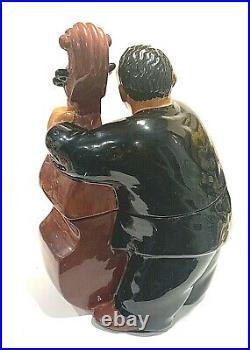 Vintage Black Americana Collectors BASS MAN Cookie Jar