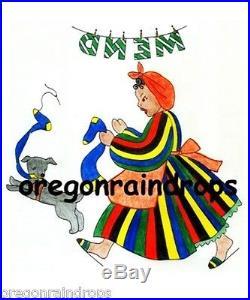Vintage Black Americana Days of Week Embroidery Transfers SO CUTE