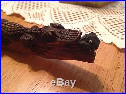 Vintage Black Americana Handcarved Pipe
