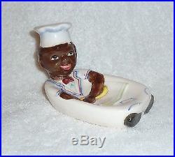 Vintage Black Americana Lefton Nodder Spoon Rest Mammy Chef Sambo Figure
