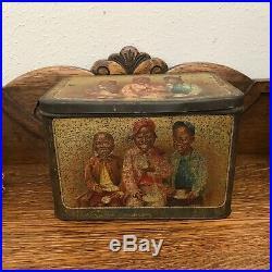 Vintage Black Americana MAZAWATTEE Tea Tin. Had Our Mazawattee