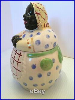 Vintage Black Americana Mammy Biscuit Cookie Jar
