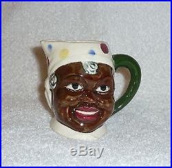 Vintage Black Americana Mammy Polka Dot Creamer Pitcher Aunt Jemima