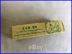 Vintage Black Americana Memorabilia Sam-bo Fishing Lure with Original Box MINT