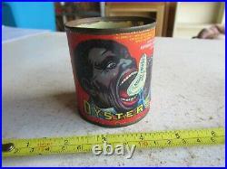 Vintage Black Americana Negro Head Oysters Tin Can Biloxi MS Lot 21-28-90